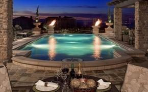 Picture pool, California, Villa, terrace, Sacramento