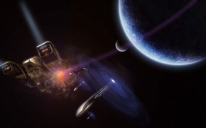 Picture ship, Space, art