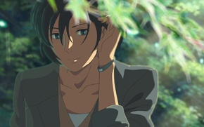 Picture Girl, Look, Girl, Anime, Makoto Xingkai, Anime, Wallpaper, Look, The Garden Of Words, Makoto Shinkai, …