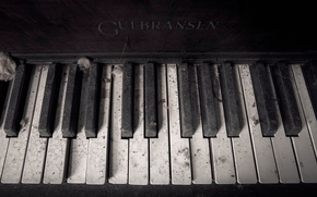 Picture dust, keys, piano, Gulbransen