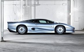 Picture Machine, Jaguar, Cars, Supercar, Supercar, Side, Jaguar XJ220