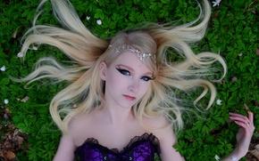 Picture Girl, Nature, Grass, Model, Beauty, Eyes, Blonde, Face, Ground, Maria Amanda Schaub