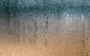 Picture glass, water, drops