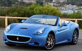 Picture Machine, Ferrari, Convertible, CA, Desktop, Car, Car, Beautiful, Blue, Wallpapers, Beautiful, Ferrari California, Blue, Cabrio, …