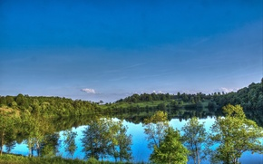 Picture the sky, nature, lake, Germany, Ellscheid