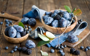Picture berries, blueberries, fruit, still life, plum, BlackBerry, blueberries, Anna Verdina