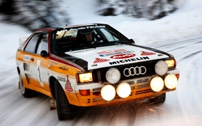 Picture Audi, Audi, Snow, Speed, Light, Car, Car, Speed, Snow, Quattro, Wallpapers, Rally, Rally, Group B, …