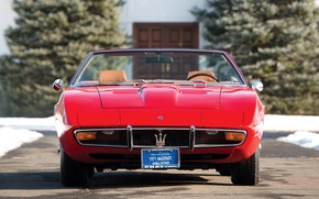 Picture Maserati, 1969, red, ghibli, front, spyder