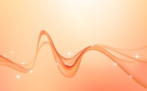 Picture wave, minimalism, vector, curves, Background