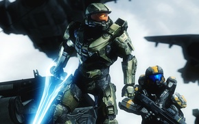 Picture soldiers, helmet, armor, Master Chief, Halo 5: Guardians, halo 5