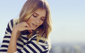 Picture girl, model, hair, blonde, beautiful, Rosie Huntington-Whiteley