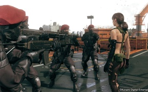 Picture soldiers, Kojima Productions, Metal Gear Solid V: The Phantom Pain, Quiet