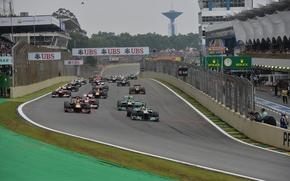 Picture race, formula 1, Brazil, start, Motorsport, the world Cup, 2013