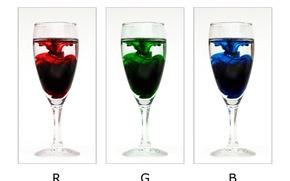 Wallpaper minimalism, glasses, RGB