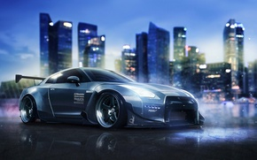 Picture Nissan, GT-R, Body, Front, R35, Kit, Ichi