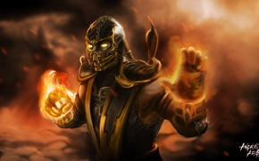Picture Scorpio, Mortal Kombat, scorpion