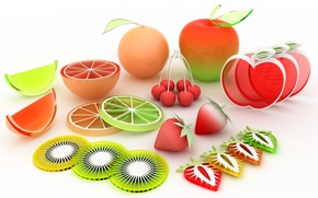 Picture Fruit, Rendering, Cuts