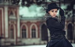 Picture portrait, styling, hat, Anna Karenina
