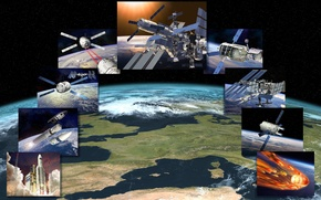 Picture space, ship, space, cargo, automatic, «ATV», the scenario of the mission
