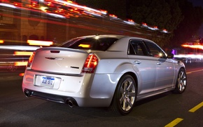 Picture The evening, Road, The city, Chrysler, Machine, Grey, Chrysler, Machine, City, SRT8, Car, Car, Cars, …