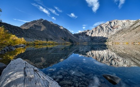 Picture mountains, lake, reflection, CA, California, Convict Lake