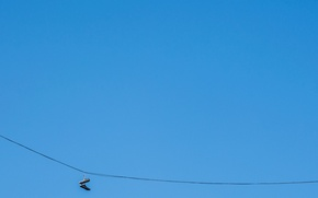 Picture the sky, minimalism, sneakers