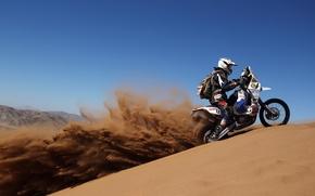 Picture sand, desert, motorcycle, rally, Dakar