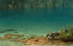Picture nature, picture, Albert Bierstadt, Lake Scene