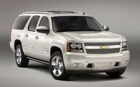 Picture white, Chevrolet, Suburban