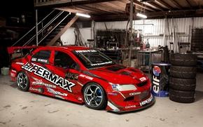 Picture sport, tuning, Mitsubishi, mitsubishi lancer, race car