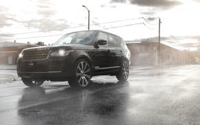 Picture asphalt, lights, before, Range Rover, Sport