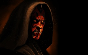 Wallpaper red, Darth Maul, Darth Maul, Star Wars, Star wars, dark Lord of the Sith, Sith