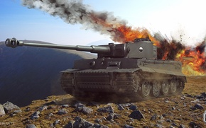 Picture tiger, wot, tiger tank, Wallpaper wot, worldoftanks, tiger tank