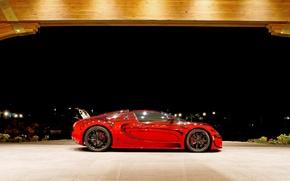 Picture red, Bugatti, Veyron, Bugatti Veyron, hypercar