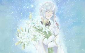 Picture snow, elf, Lily, headphones, guy, Last Exile, Exile, Dio Eraclea
