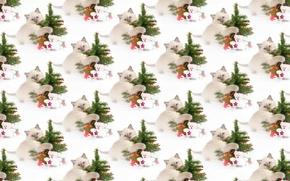 Wallpaper New year, kitty, background, texture, holiday, herringbone