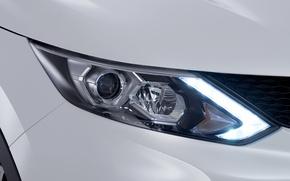 Picture headlight, LEDs, nissan, 2014, qashqai