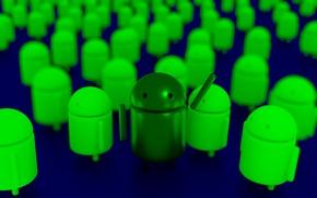 Picture Android, logo, render, Blender