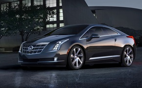 Picture Cadillac, The evening, Machine, Grey, The hood, Coupe, ELR