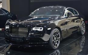 Wallpaper Rolls-Royce, the dealership, Rolls-Royce Wraith Black Badge