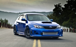 Picture Subaru, Impreza, blue, front, Subaru, Impreza