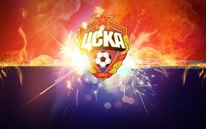 Picture red, football, fire, sport, CSKA, CSKA, blue, club
