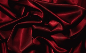 Picture red, fabric, folds, texture