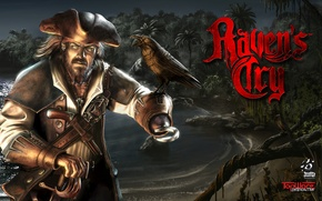 Picture Hat, Pirate, Cloak, Saber, Rays Of Light, Dagger, Hook, TopWare Interactive, Octane Games, Raven's Cry