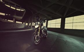 Picture dark, sport, side, Yamaha, moto, japan, naked, tracker, MT-09