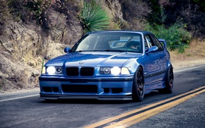 Wallpaper BMW, Coupe, blue, series, E36