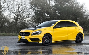 Picture Mercedes, AMG, Yellow, A45, Mulgari