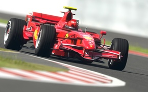 Picture road, machine, sport, road, speed, track, formula 1, sport, ferrari, Ferrari, formula 1, racing