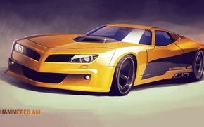 Picture auto, car, art, concept car, hammered am