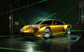 Picture yellow, graphics, Berlinetta, Willys, AW380, Viotti